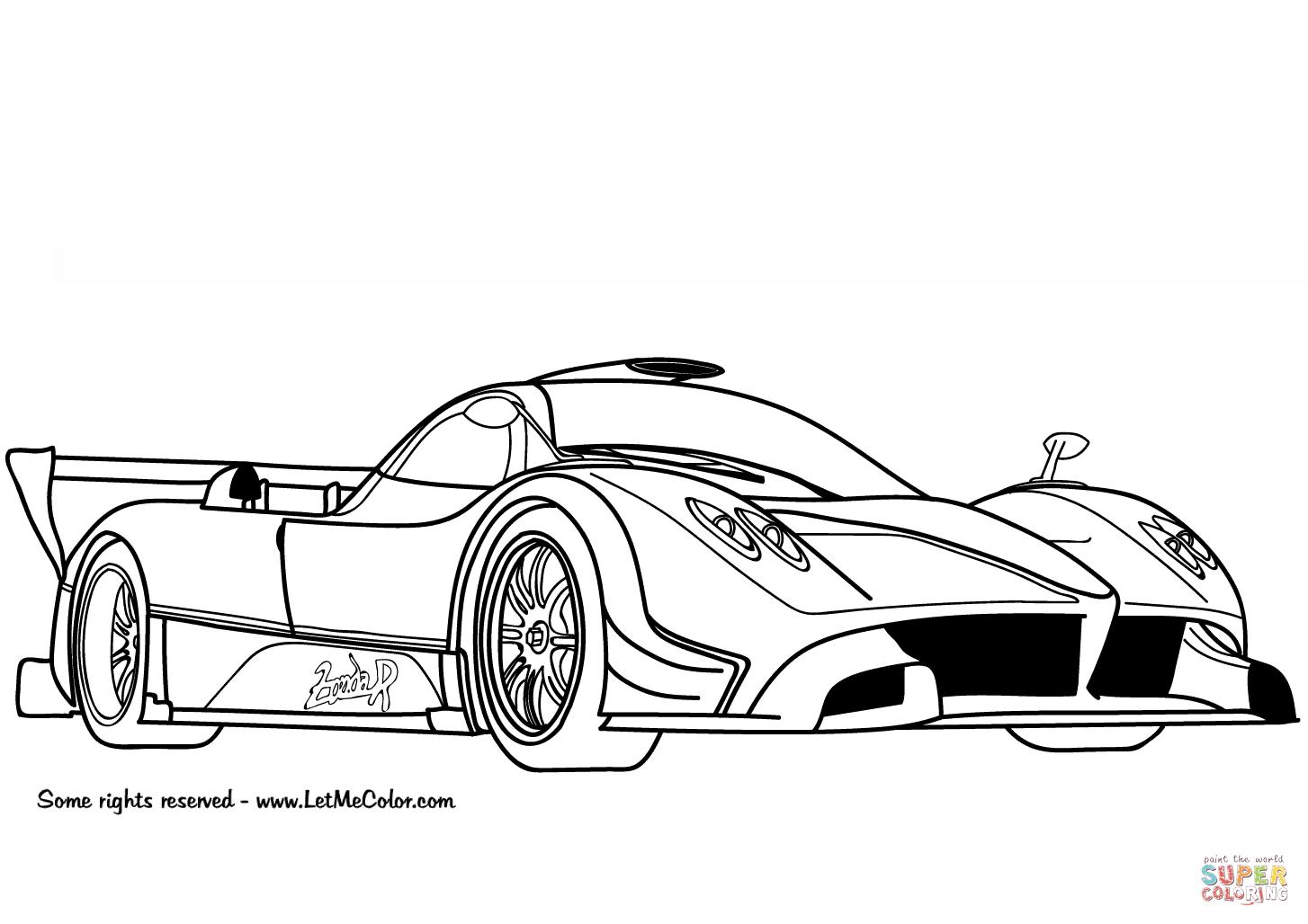 Auto Kleurplaat Lamborghini • Kidkleurplaat.nl