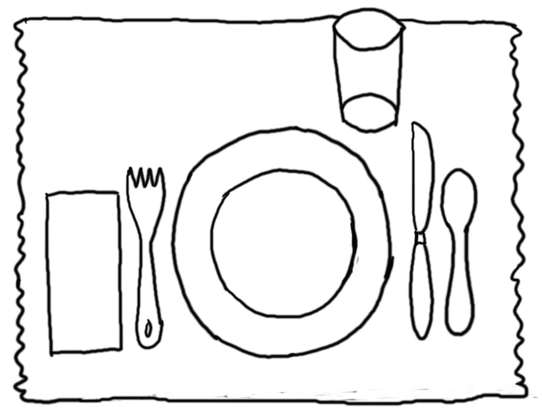 Tischgedeck Clipart Placemat Clipart Clipground