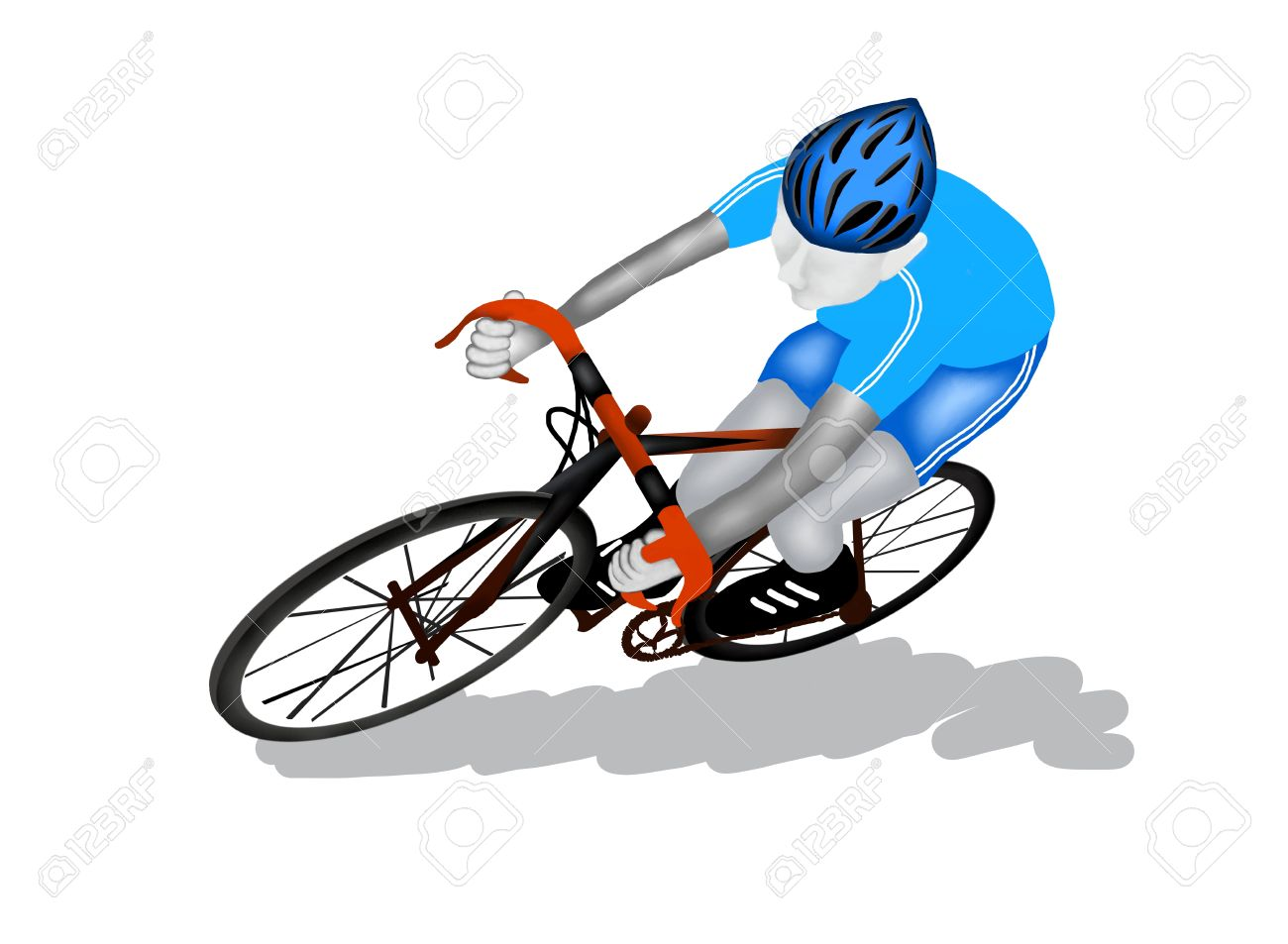 Racing Bicycle Clipart Professional Cyclist Clipart Clipground