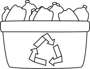 Recycling Bin Clipart Black And White Clipground