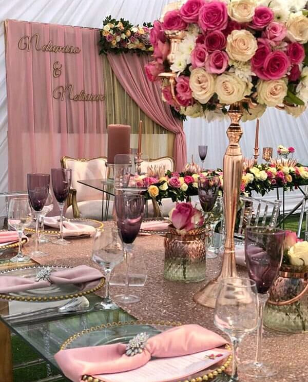 Modern Traditional Wedding Decor with Dusty Pink Theme