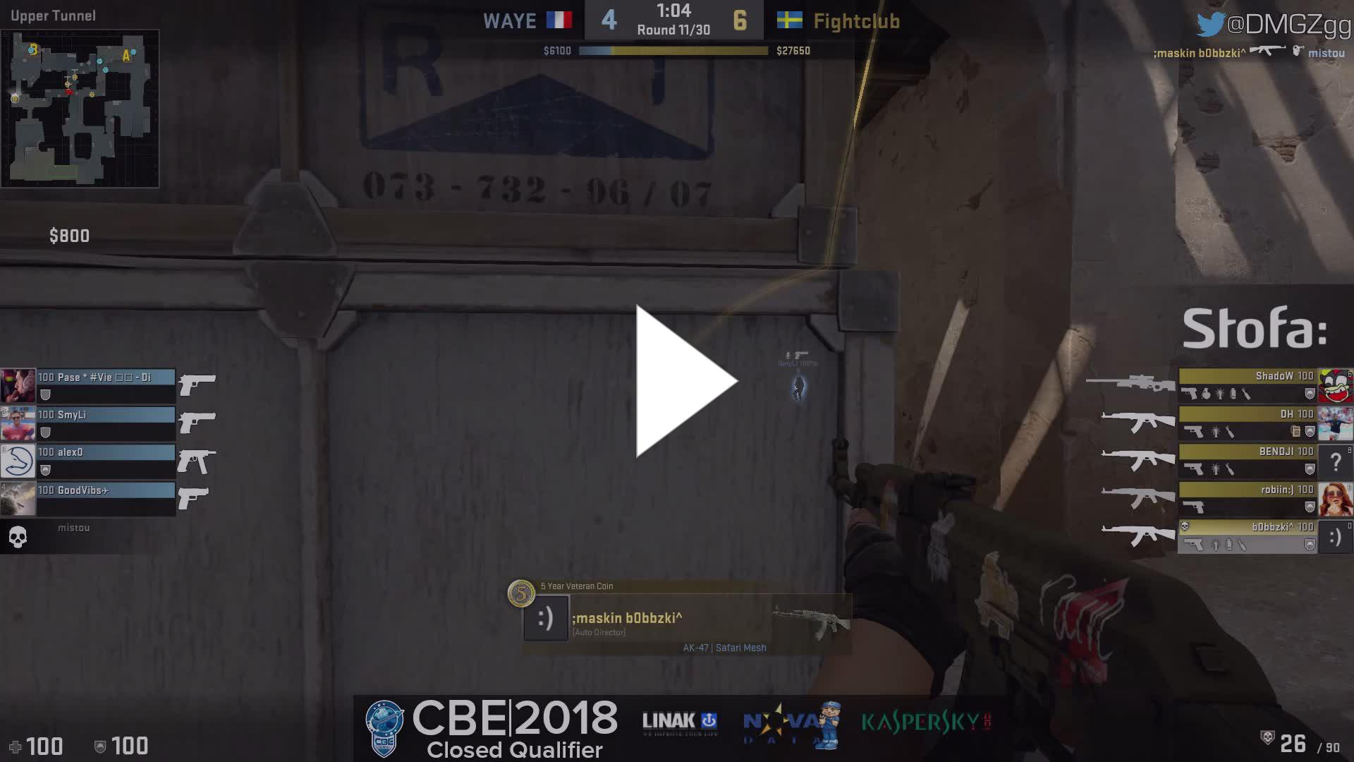Arte Et Marte Cs Go Dmgztv Robiin 3 Ak Kills On The Bombsite B Offensive Vs