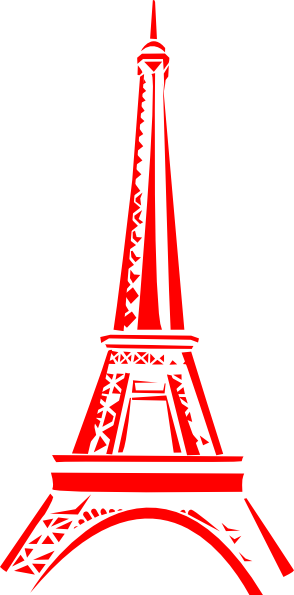 Cafe Hitam Putih Eiffel Tower Clip Art At Clker.com - Vector Clip Art