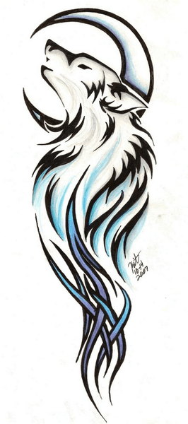 Lotus Tattoo Vorlagen Tribal Wolf Tattoo By Reighnmiyuki | Free Images At Clker
