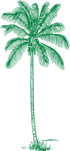 Palm Island Green Palm Tree Clip Art At Clker.com - Vector Clip Art