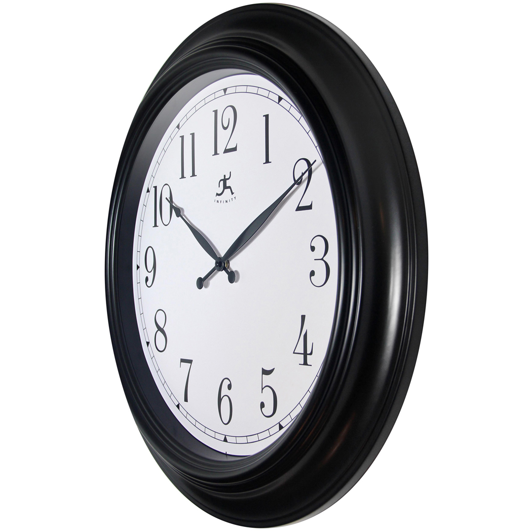 Classical Wall Clocks 24 Inch Classic Black Plastic Wall Clock Clock By Room