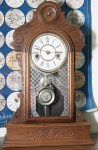 Waterbury One Day Walnut Shelf Clock