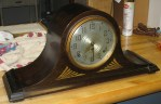 "Two Seth Thomas ""Plymouth"" Tambour Mantel Clocks, 1938 and 1940"