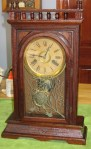Terry Clock Company Walnut Shelf Clock