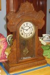 Ingraham Oak Kitchen Clock