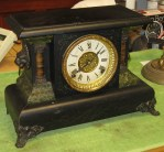 Sessions Black Mantel Clock, Early