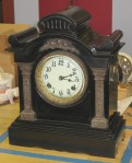 Ansonia Black Cast Iron Mantel Clock