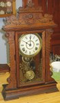 Antique Seth Thomas Oak Kitchen Clock with Nice Label and Date on the Back