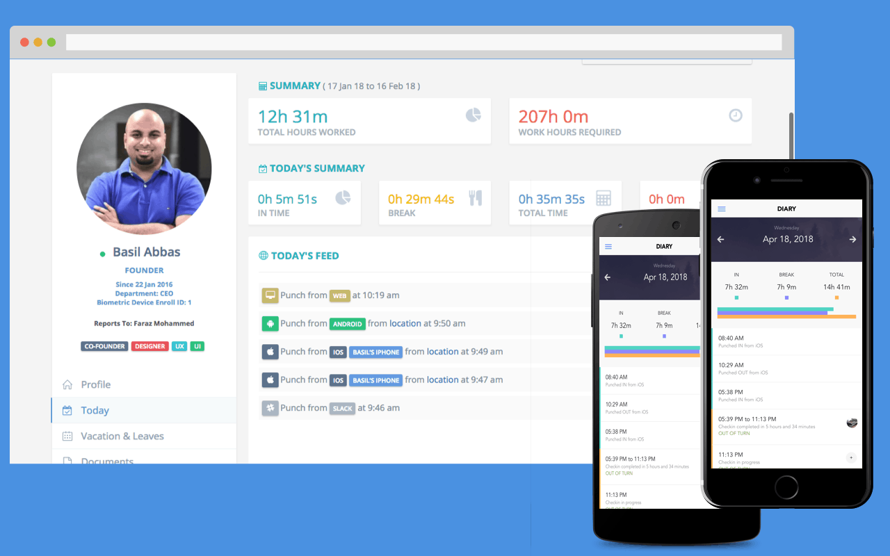 Employee Attendance Employee Attendance Tracking Mobile App Clockit
