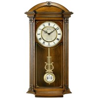 Pendulum wall clock with Triple Chime Bulova Hartwick ...