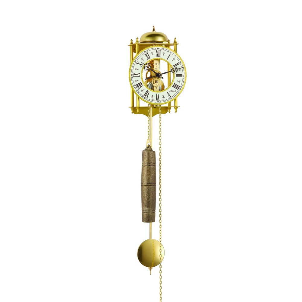 Braun Hamburg Sale Hermle Hamburg Mechanical Skeleton Wall Clock - Gold