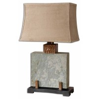 Indoor Outdoor Lamp Slate Square, Table Lamp 26321-1