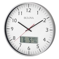 Manager Office Wall Clock Bulova C4810 | ClockShops.com