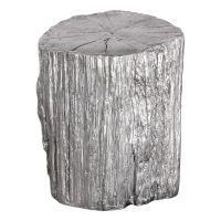 Uttermost Cambium Silver Tree Stump Stool 24663 ...