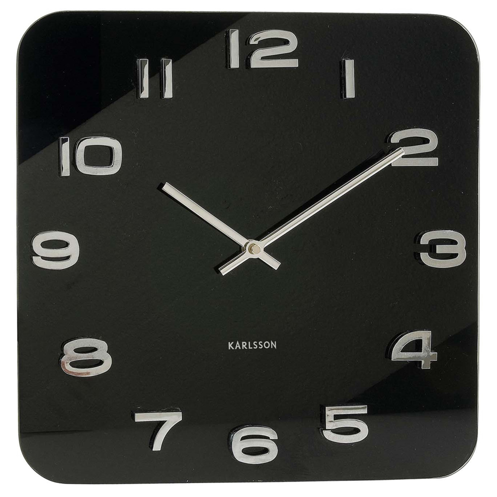 Black Wall Clock Karlsson 13 8