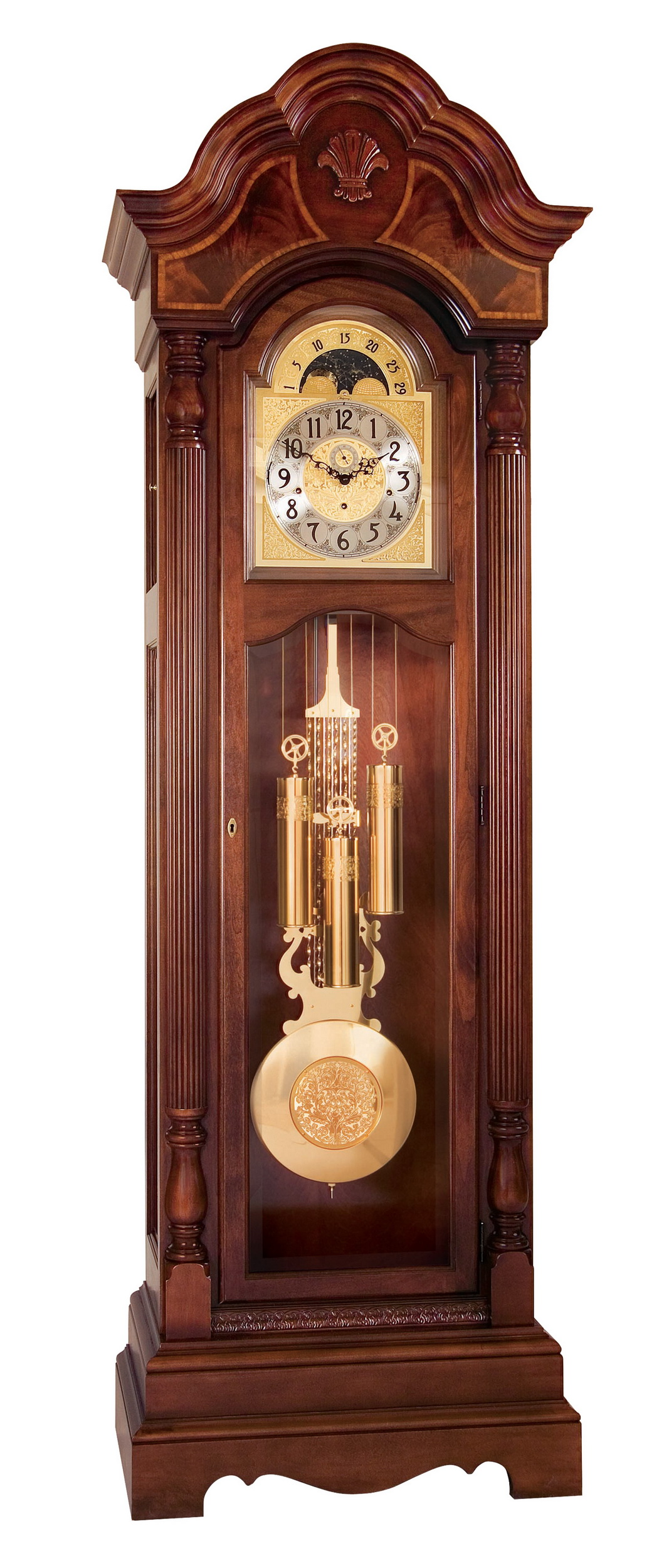 Atomic Wall Clocks Made In Usa Clockway Ridgeway Belmont Triple Chiming Grandfather
