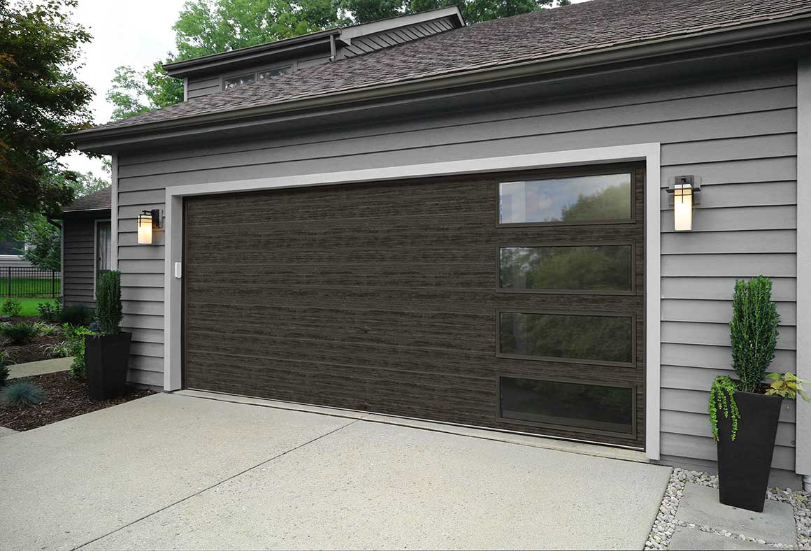 Garage And Front Doors That Match Modern Steel Garage Doors Clopay Modern Steel Collection