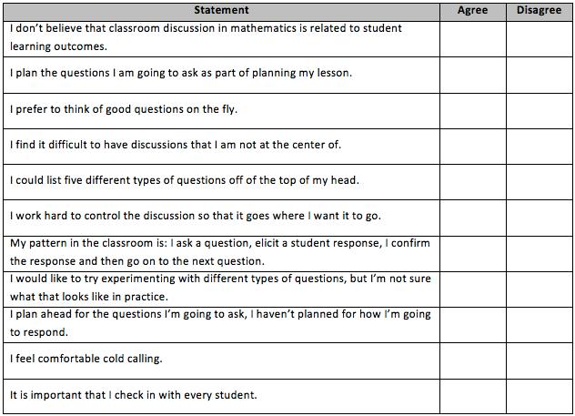 Leadership Questionnaire Sample Questionnaire New Teacher Training Day 1b Clopen Mathdebater