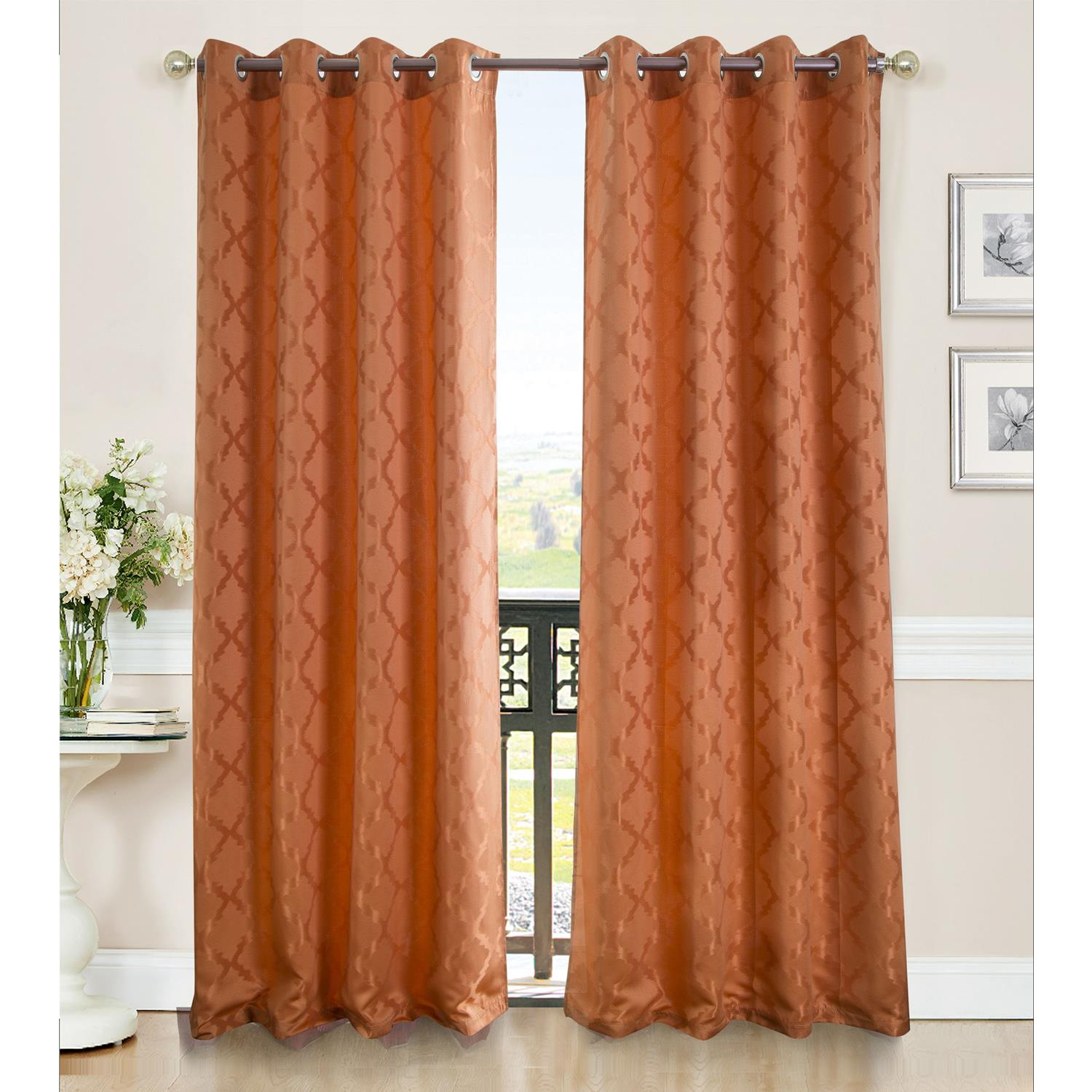 Blackout Curtains 90 X 54 Lenny Grommet Curtain Panel 54 X 90 Ebay