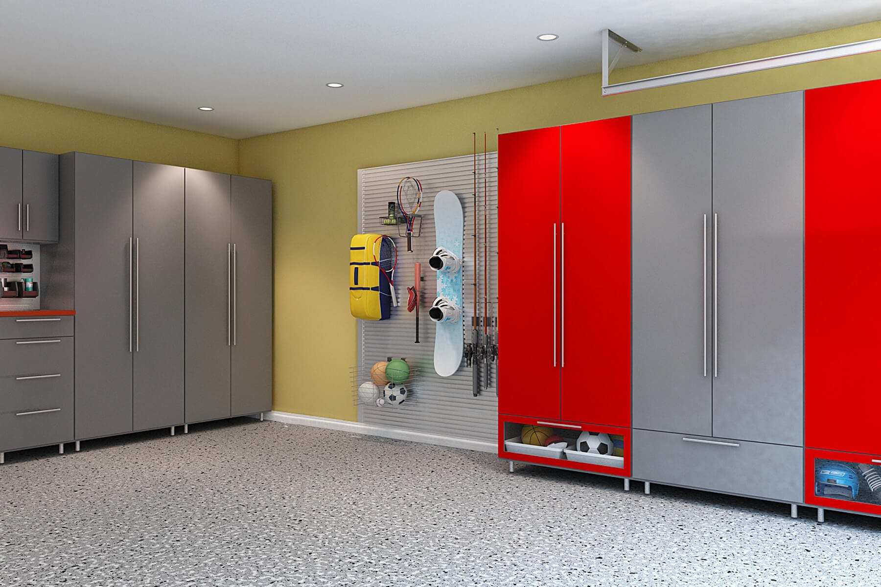 Garage Utility Cabinets Garage Storage Cabinets Design And Install Closet Factory