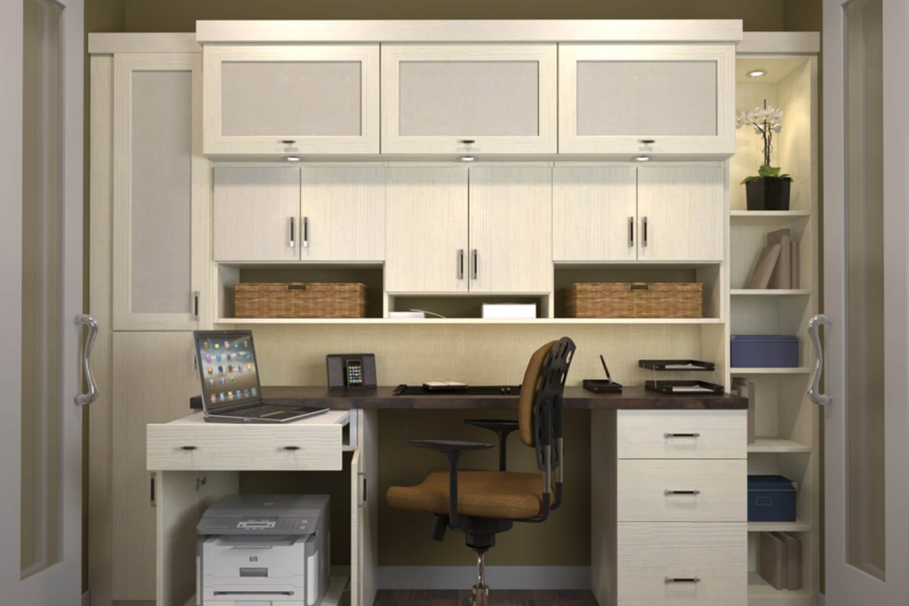 Home Office Cabinets Custom Home Offices Office Built In Design Closet Factory