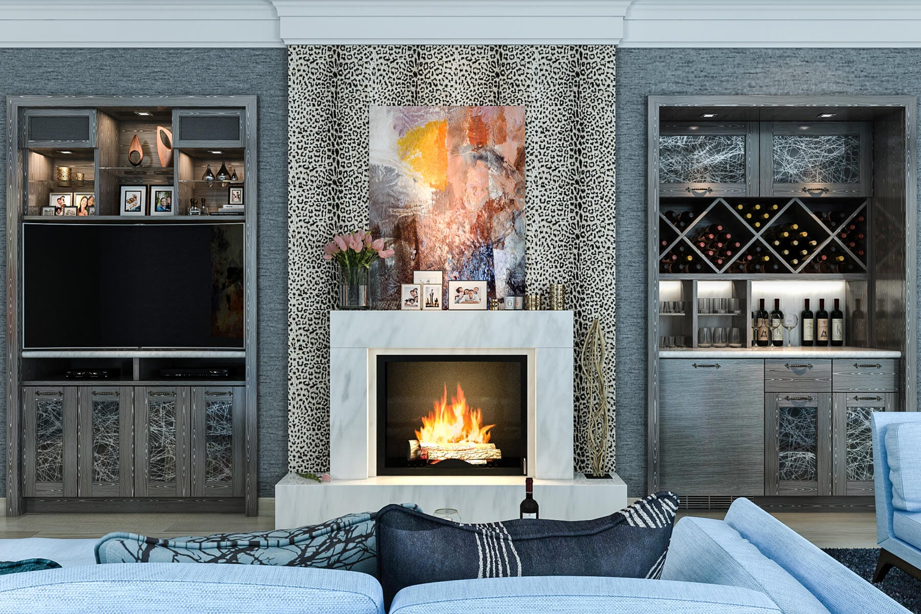 Fireplace Wall Units Wall Units Custom Design And Installation Closet Factory
