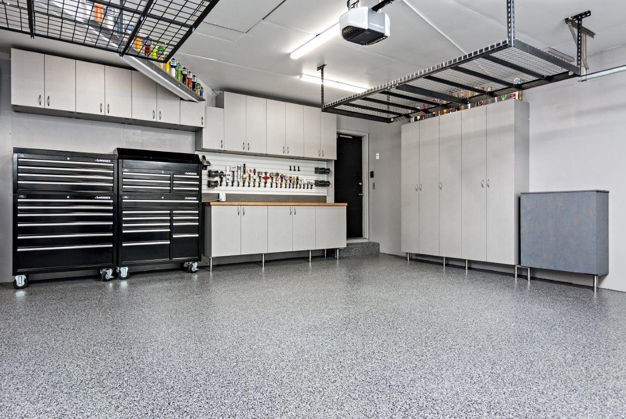 Total Garage Makeover Garage Cabinets Flooring Minneapolis St Paul