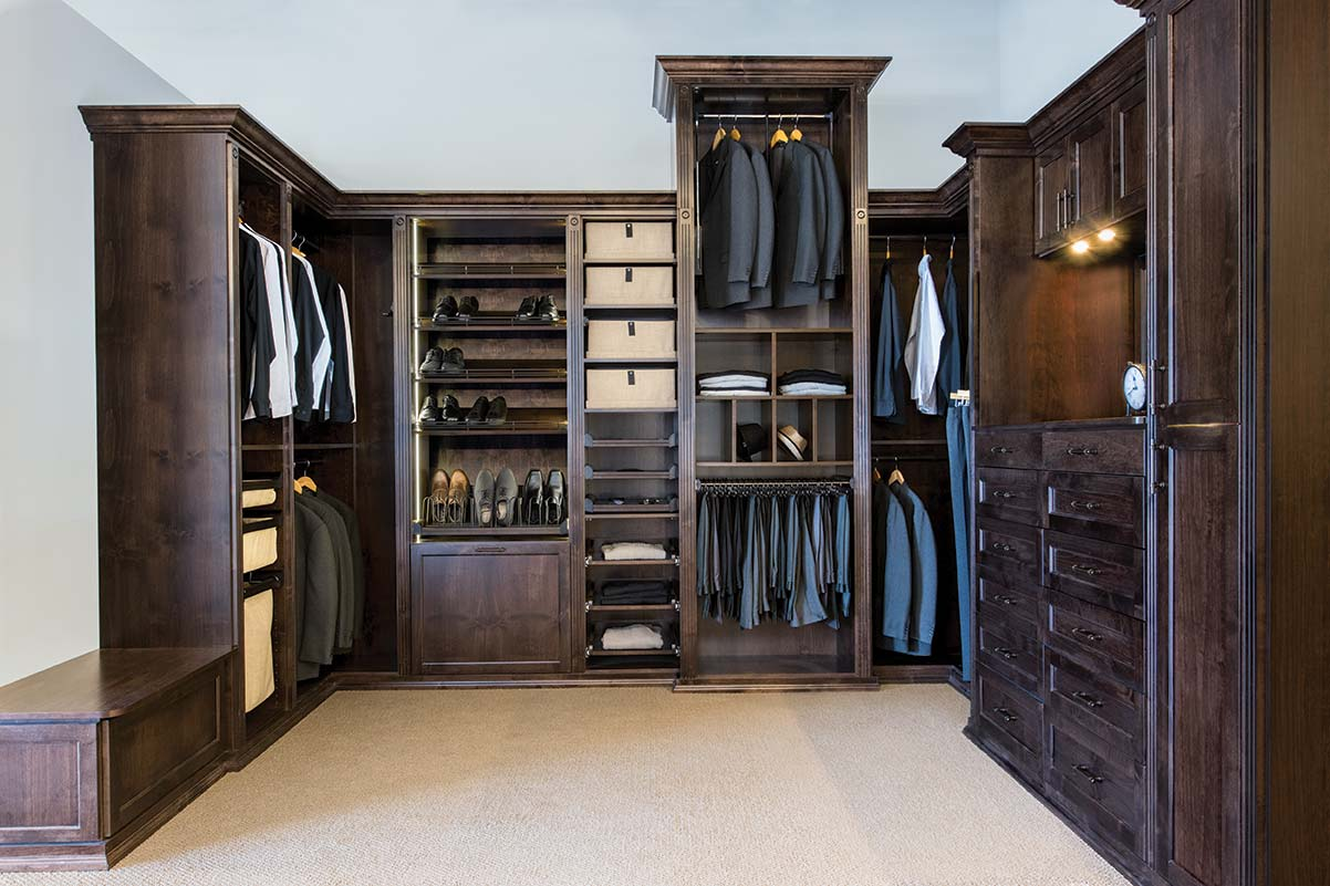 Walkin Closet Cabinets Custom Wood Master Closets And Dressing Room For Him