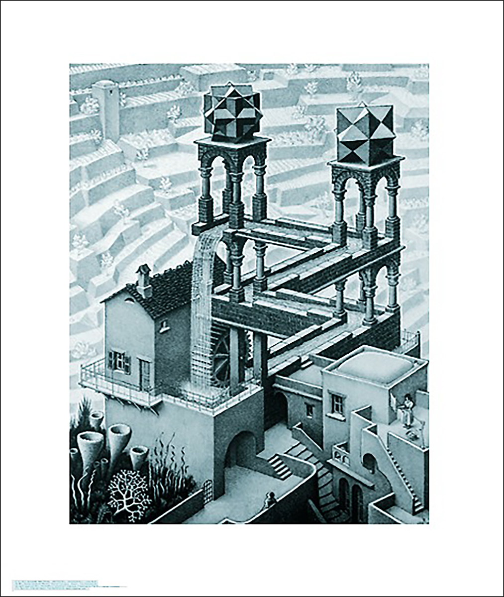 Breaking Bad Bettwäsche M.c. Escher Poster Waterfall - Art Prints Buy Now In The Shop Close Up Gmbh