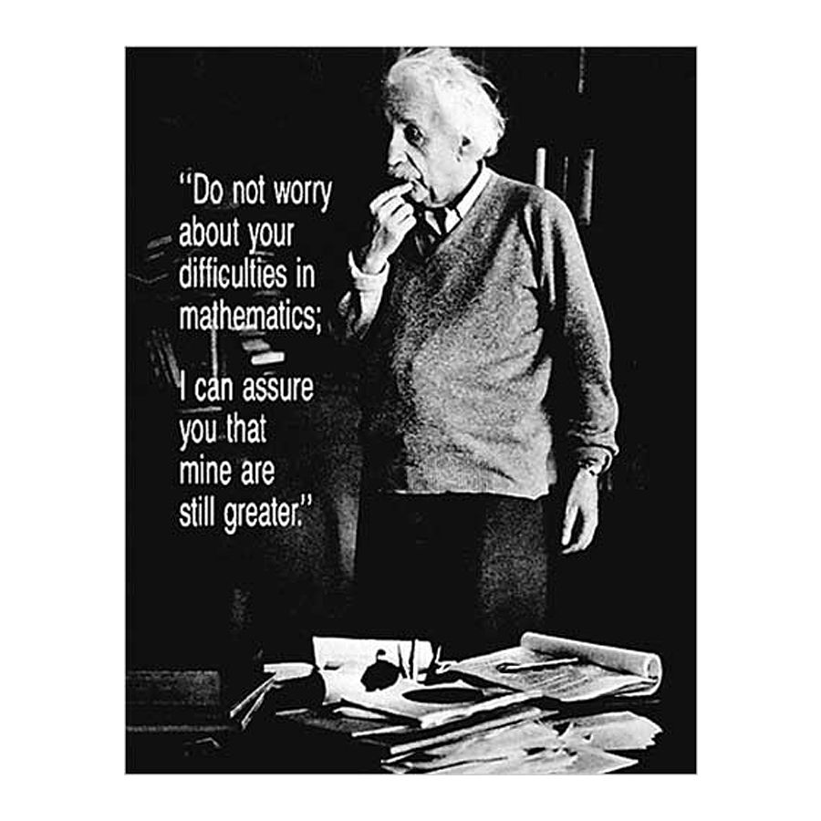 Wg Küche Albert Einstein Poster Do Not Worry - Poster Kleinformat