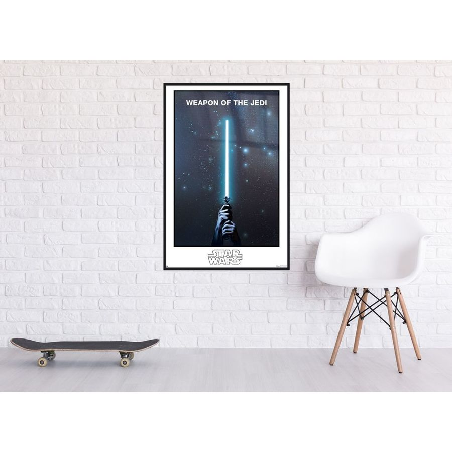 Star Wars Bettwäsche Nachtleuchtend Star Wars Poster Weapon Of The Jedi Glow In The Dark Poster