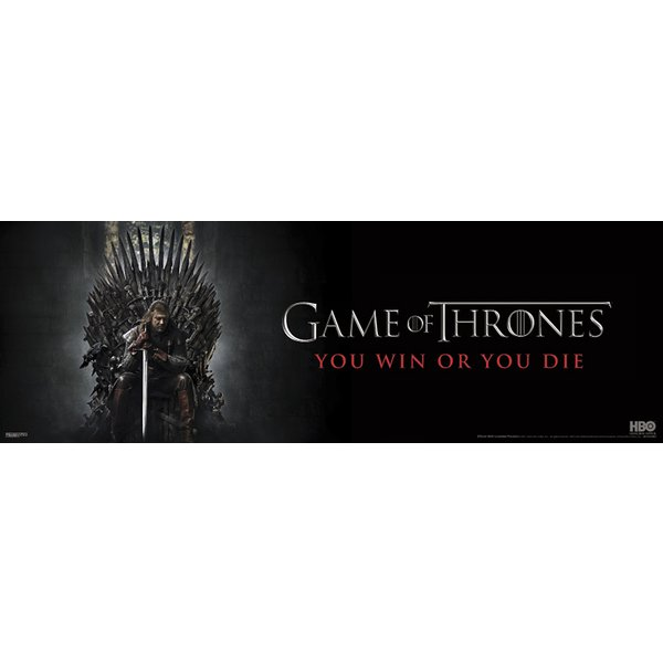 Sprüche Poster Poster Horizontal Games Of Thrones - You Win Or You Die