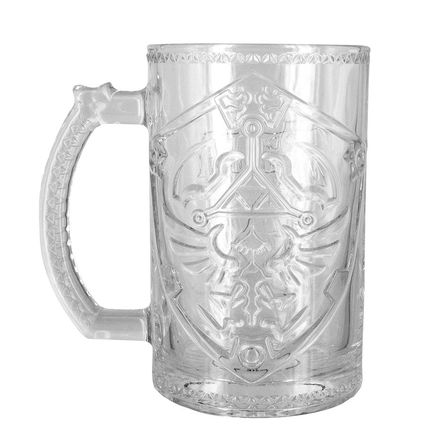 Verre The Chope En Verre The Legend Of Zelda Bouclier En Vente Sur Close Up