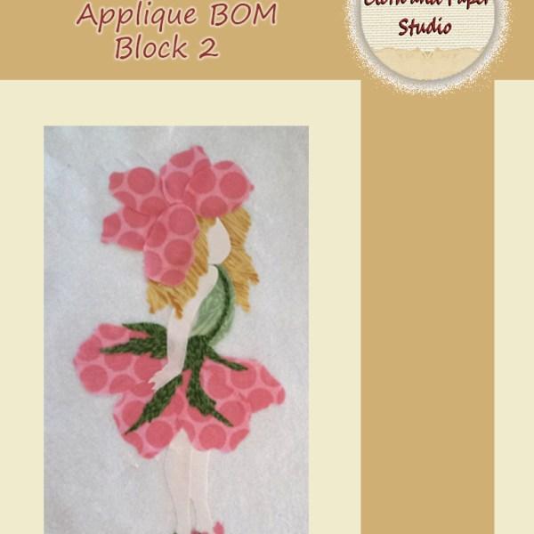 Floral Fairies Applique BOM Block 2