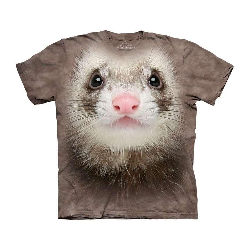 Ferret Face T-Shirt The Mountain - clothingmonster
