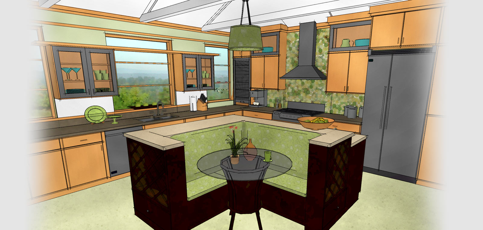 kitchen bath design your kitchen Technical drawing of a kitchen generated by Home Designer