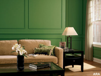 Green Paint Living Room. The Paint Color That Can Make Ugly Stuff