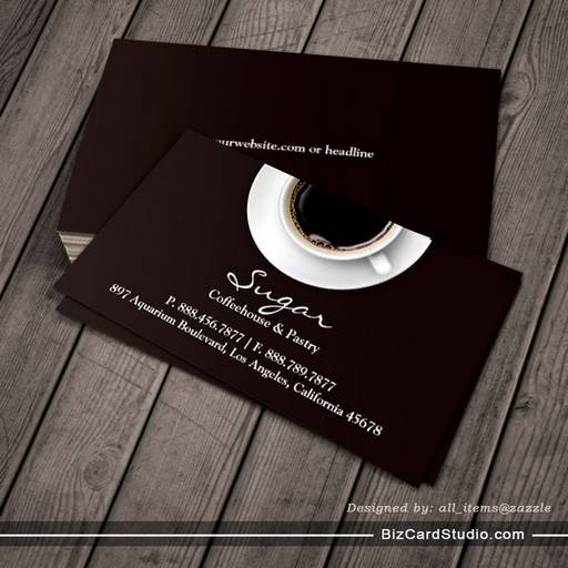 Business Card Templates Studio Coffee Business Card