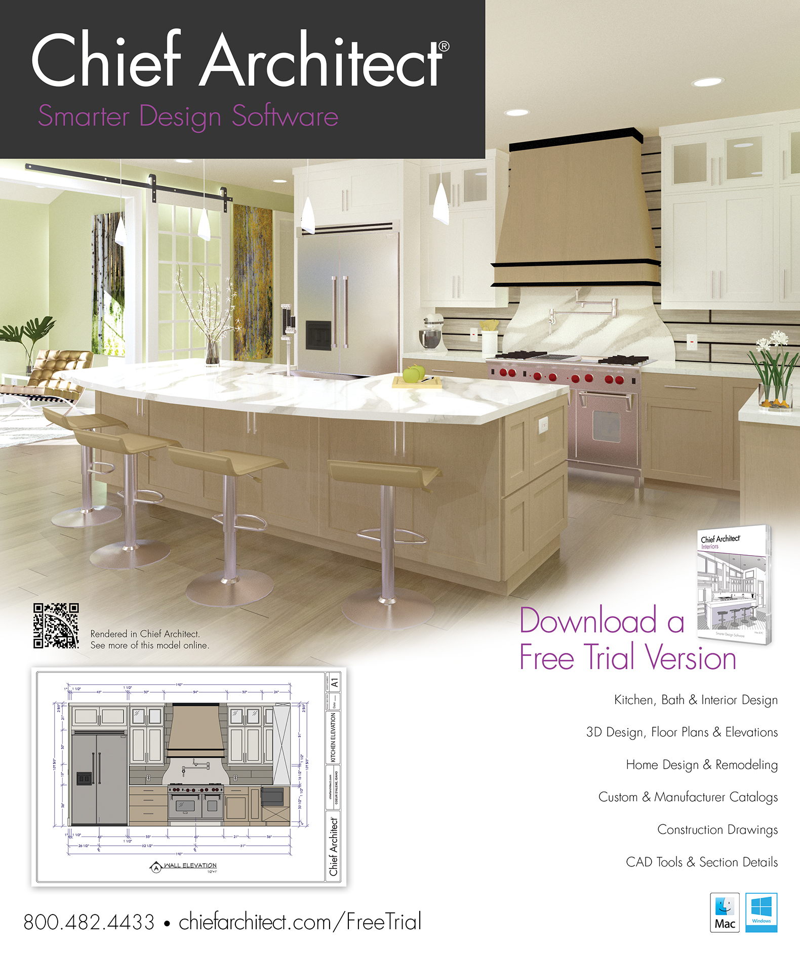Kitchen Design App Free Download Chief Architect Kitchen And Bath Software Ad