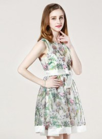 Dresses | Skater Dresses | Summer Style Sleeveless Print ...