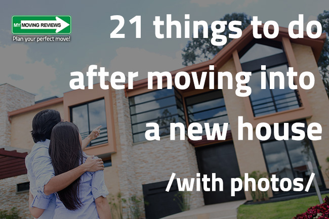 21 Things To Do After Moving Into A New House: Visual Moving Checklist
