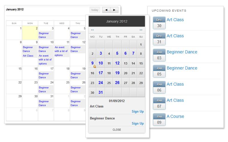 event calendar template for website - Romeolandinez - calendar template for website