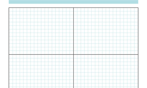 Free Printable Sketching, Wireframing and Note-Taking PDF Templates - grid paper template
