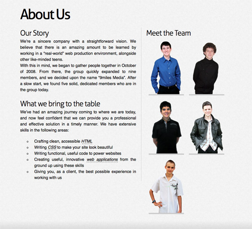 Meet the Team Pages Examples and Trends u2014 Smashing Magazine - company profile sample