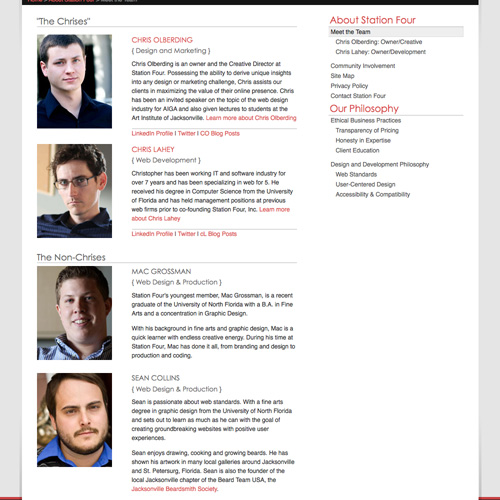 Meet the Team Pages Examples and Trends \u2014 Smashing Magazine - company bio template